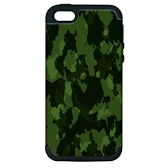 Camouflage Green Army Texture Apple Iphone 5 Hardshell Case (pc+silicone)