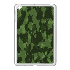 Camouflage Green Army Texture Apple iPad Mini Case (White)