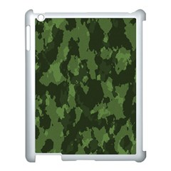 Camouflage Green Army Texture Apple Ipad 3/4 Case (white)