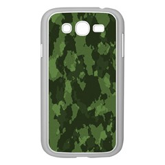 Camouflage Green Army Texture Samsung Galaxy Grand DUOS I9082 Case (White)