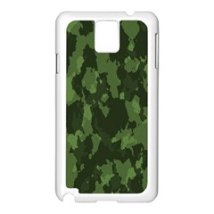 Camouflage Green Army Texture Samsung Galaxy Note 3 N9005 Case (white)