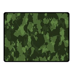 Camouflage Green Army Texture Double Sided Fleece Blanket (small)