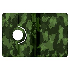 Camouflage Green Army Texture Kindle Fire Hdx Flip 360 Case