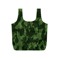 Camouflage Green Army Texture Full Print Recycle Bags (s)