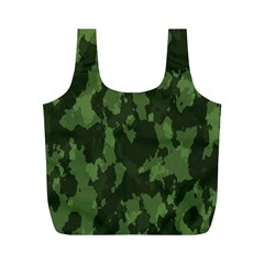 Camouflage Green Army Texture Full Print Recycle Bags (m)