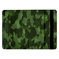 Camouflage Green Army Texture Samsung Galaxy Tab Pro 12 2  Flip Case