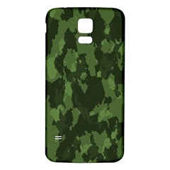 Camouflage Green Army Texture Samsung Galaxy S5 Back Case (White)
