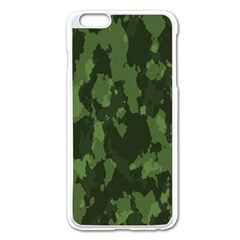 Camouflage Green Army Texture Apple Iphone 6 Plus/6s Plus Enamel White Case