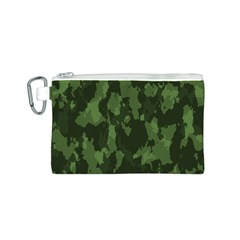 Camouflage Green Army Texture Canvas Cosmetic Bag (s)