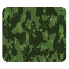 Camouflage Green Army Texture Double Sided Flano Blanket (Small)