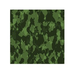 Camouflage Green Army Texture Small Satin Scarf (square)