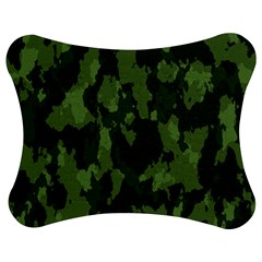 Camouflage Green Army Texture Jigsaw Puzzle Photo Stand (bow)