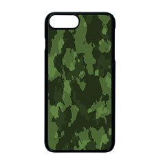 Camouflage Green Army Texture Apple Iphone 7 Plus Seamless Case (black)
