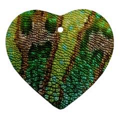 Chameleon Skin Texture Heart Ornament (Two Sides)