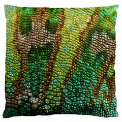 Chameleon Skin Texture Large Cushion Case (one Side)