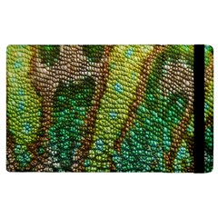 Chameleon Skin Texture Apple Ipad 2 Flip Case