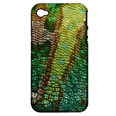 Chameleon Skin Texture Apple iPhone 4/4S Hardshell Case (PC+Silicone)