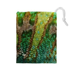 Chameleon Skin Texture Drawstring Pouches (large)
