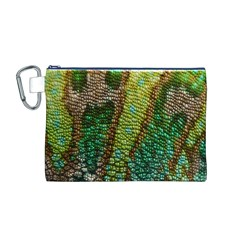 Chameleon Skin Texture Canvas Cosmetic Bag (M)