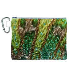 Chameleon Skin Texture Canvas Cosmetic Bag (xl)
