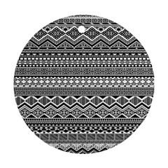 Aztec Pattern Design Ornament (round)