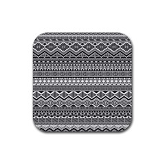 Aztec Pattern Design Rubber Square Coaster (4 pack)