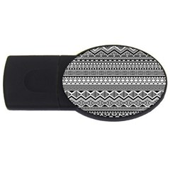 Aztec Pattern Design USB Flash Drive Oval (2 GB)