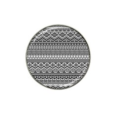 Aztec Pattern Design Hat Clip Ball Marker