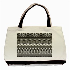 Aztec Pattern Design Basic Tote Bag (Two Sides)