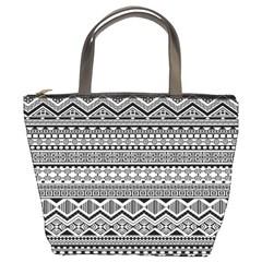 Aztec Pattern Design Bucket Bags