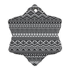 Aztec Pattern Design Snowflake Ornament (two Sides)