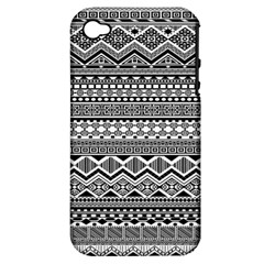 Aztec Pattern Design Apple iPhone 4/4S Hardshell Case (PC+Silicone)