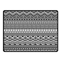 Aztec Pattern Design Double Sided Fleece Blanket (Small)