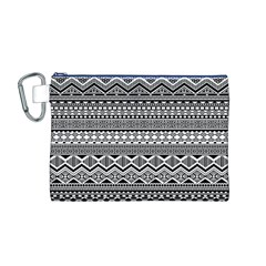 Aztec Pattern Design Canvas Cosmetic Bag (M)