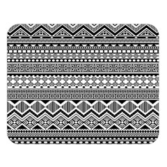 Aztec Pattern Design Double Sided Flano Blanket (Large)