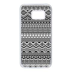 Aztec Pattern Design Samsung Galaxy S7 White Seamless Case