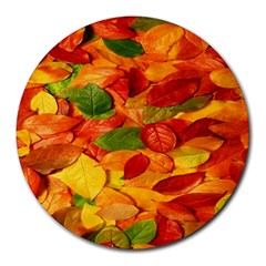 Leaves Texture Round Mousepads