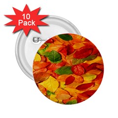 Leaves Texture 2 25  Buttons (10 Pack)