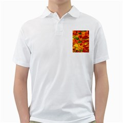 Leaves Texture Golf Shirts
