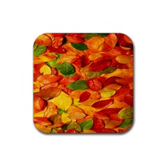 Leaves Texture Rubber Coaster (Square)