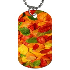 Leaves Texture Dog Tag (Two Sides)