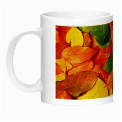 Leaves Texture Night Luminous Mugs