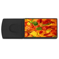 Leaves Texture USB Flash Drive Rectangular (4 GB)