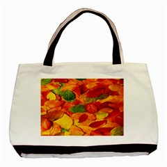 Leaves Texture Basic Tote Bag (Two Sides)