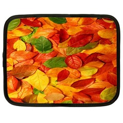 Leaves Texture Netbook Case (Large)