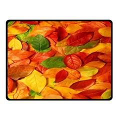 Leaves Texture Fleece Blanket (Small)