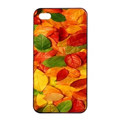 Leaves Texture Apple Iphone 4/4s Seamless Case (black)
