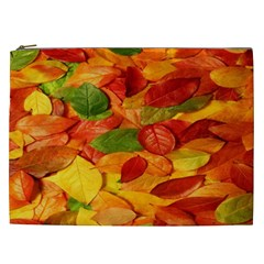 Leaves Texture Cosmetic Bag (xxl)