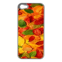 Leaves Texture Apple iPhone 5 Case (Silver)
