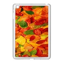 Leaves Texture Apple iPad Mini Case (White)